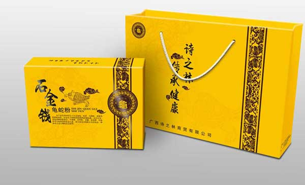 龟蛇粉包装彩箱设计